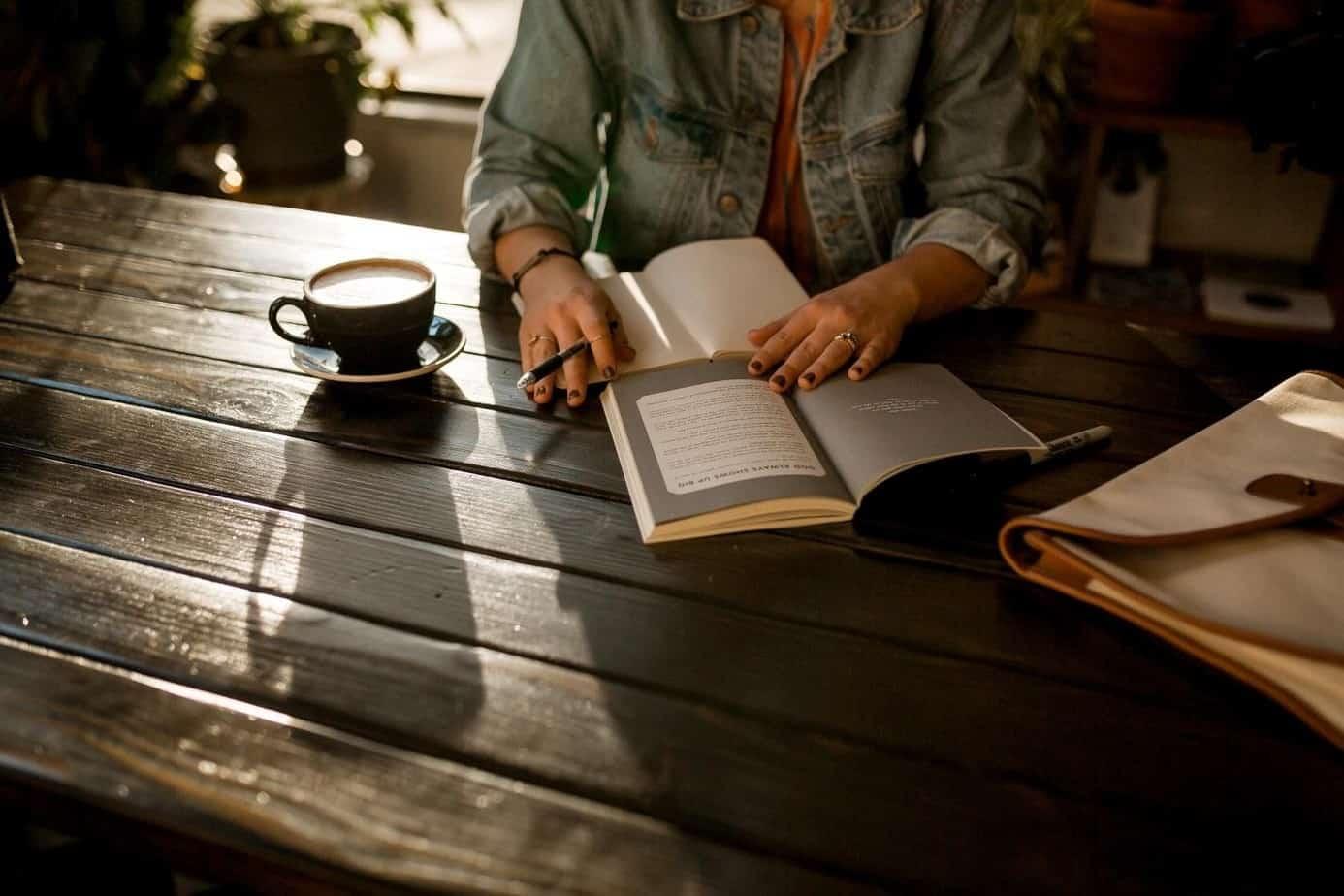 woman writing a novel